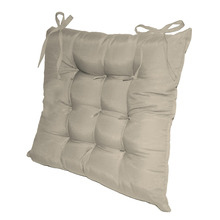 Assento para Cadeira Microfibra Areia 40x40cm