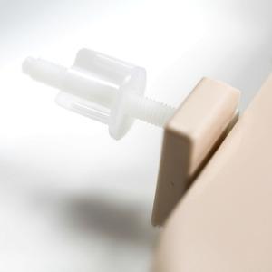 Assento Sanitário Plástico Pêssego Fechamento Comum Fixação Branca para Vaso Incepa Thema