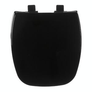 Assento Sanitário Plástico Preto Fechamento Comum Fixação Branca para Vaso Celite Fit