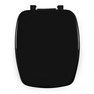 Assento Sanitário Plástico Preto Fechamento Comum Fixação Branca para Vaso Celite Stylus