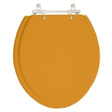 Assento Sanitário Azalea Amarelo Terra para Louça Celite