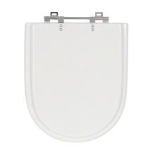 Assento Sanitário Carrara/ Nuova/ Duna/ Link Poliéster Branco Fechamento Comum Sensea