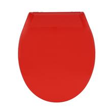 Assento Sanitário Convencional Polipropileno Vermelho Fechamento Suave Uno Sensea