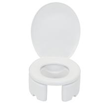 Assento Sanitário Elevado para Modelo Oval Polietileno Branco Fechamento Comum Astra