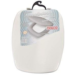 Assento Sanitário Almofadado Espuma Injetada Branco Para Vaso Celite Stylus 42,5 X 34 Cm Distância Entre Furos 15Cm Astra