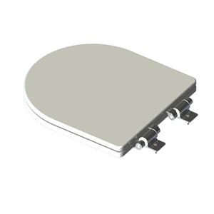 Assento Sanitário Formatos Poliéster Branco Fechamento Suave Policlass