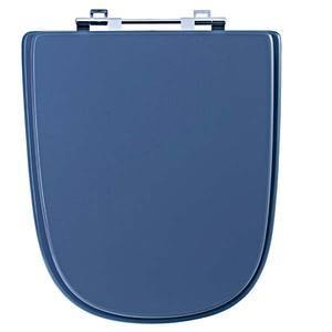 Assento Sanitário Comum MDF Amber Gris /Cromado Para Vaso Incepa Ibiza 42,6 X 39,3 Cm Distância Entre Furos 15,6Cm Sicmol