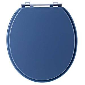 Assento Sanitário Comum Mdf Amber Gris Para Vaso Universal 40,9 X 38,9 Cm Distância Entre Furos 15,6 Cm Sicmol