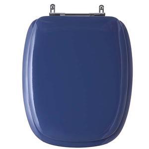 Assento Sanitário Almof MDF C/Espuma Az Mineral P/Vaso Celite Stylus Comp 41,90 Cm Larg 35,02 Cm 15,50 Cm Almoflex