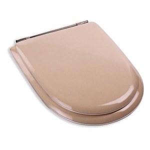 Assento Sanitário Almof MDF C/Espuma Bege/Rosa/Amarelo P/Vaso Incepa Calypso Comp 41,60 Cm Larg 35,70 Cm 27,00 Cm Almoflex