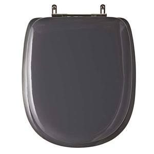 Assento Sanitário Almofadado MDF C/Espuma Cz Vip /Cinza Quartzo P/Vaso Icasa Sabatini Comp 42,70 Cm Larg 37,20 Cm 15,50 Cm Almofadadolex
