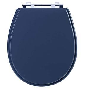 Assento Sanitário Comum Mdf Cinza Quartzo Para Vaso Universal 41,9 X 37,6 Cm Distância Entre Furos 15,6Cm Sicmol