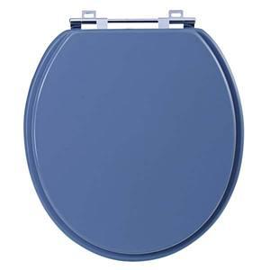 Assento Sanitário Comum Mdf Cinza Vip Para Vaso Universal Comprimento 40,9 Cm Largura 38 Cm 15,6 Cm Sicmol