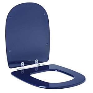 Assento Sanitário Comum MDF Cobalto P/Vaso Icasa Ideal Standart Par/Ezed/Sabat Comp 41,50 Cm Larg 37,00 Cm 15,60 Cm Sicmol