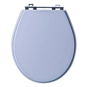 Assento Sanitário Comum MDF Cz Quartzo P/Vaso Ideal Standart Tivoli Comp 42,00 Cm Larg 37,00 Cm 17,10 Cm Sicmol