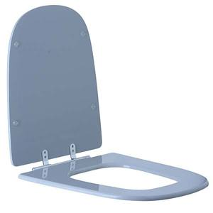 Assento Sanitário Comum MDF Silver Gray Para Vaso Incepa Ibiza 42,6 X 39,3 Cm Distância Entre Furos 15,6Cm Sicmol