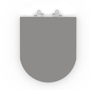 Assento Sanitário Oval Poliester Cinza Incepa