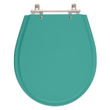 Assento Sanitario Poliester Avalon Aquamarine para Vaso Ideal