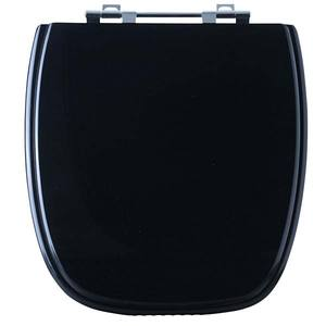 Assento Sanitário Comum Poliéster Black P/Vaso Celite Versato Comp 39,40 Cm Larg 39,30 Cm 15,60 Cm Sicmol