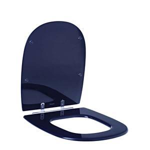 Assento Sanitário Comum Poliéster Cobalto P/Vaso Icasa Ideal Standart Par/Ezed/Sabat Comp 41,50 Cm Larg 37,00 Cm 15,60 Cm Sicmol