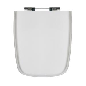 Assento Sanitário Poliéster Formatos Branco Fechamento Comum