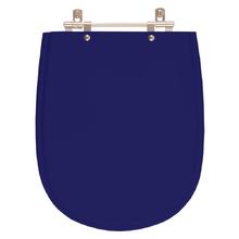 Assento Sanitario Poliester Paris Azul Cobalto para Vaso Idea