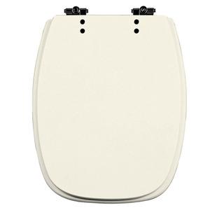 Assento Sanitário Comum Poliéster Pergamon Para Vaso Celite Stylus 43 X 34 Cm Distância Entre Furos 14,5Cm Thebas