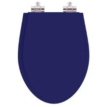 Assento Sanitario Poliester Soft Close Absolute Azul Cobalto