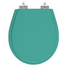 Assento Sanitario Poliester Soft Close Avalon Aquamarine para