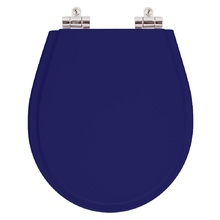 Assento Sanitario Poliester Soft Close Avalon Azul Cobalto pa