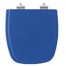 Assento Sanitario Poliester Soft Close Fit Azul Real para Vas