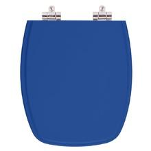 Assento Sanitario Poliester Soft Close Stylus Azul Mineral pa