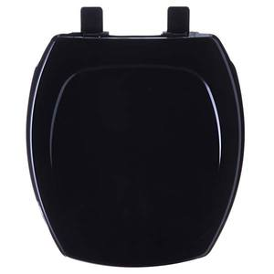 Assento Sanitário Polímero Termofixo Preto Para Vaso Incepa Thema 44,1 X 39 X 15 Cm Tupan