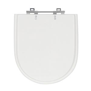 Assento Sanitário Riviera/ Nexo/ Smart/ Mondiale Poliéster Branco Fechamento Comum Sensea