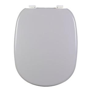 Assento Sanitário Plástico Sterling Silver Fechamento Comum Fixação Branca para Vaso Ideal Standard Sabatini/Paris