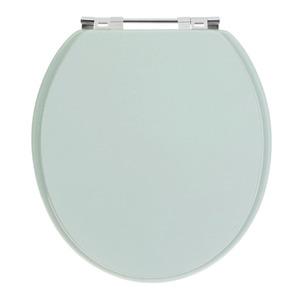 Assento Sanitário Plástico Verde Fechamento Comum Fixação Cromada Universal