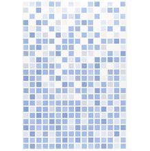 Azulejo Borda Arredondada Brilhante Vitral Azul 33x46cm Ceral 2130265