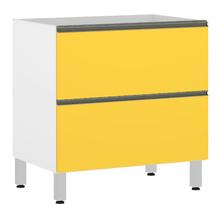 Balcão 1 Porta 1 Gaveteiro Misto Amarela 82,5x80x53cm Spring