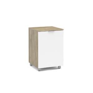 Balção 1 Porta 66,3x44,3x34,5cm Castanho e Branco Morumbi Politorno