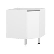 Balcão de Canto 1 Porta Branco Matte 82,5x76x76cm Spring