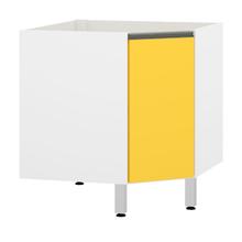Balcão de Canto Amarelo 82,5x76x76cm Spring