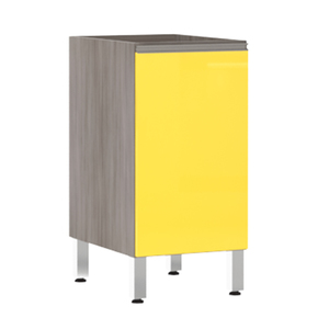Balcão de Cozinha 1 Porta 53x82,5x53cm Amarelo  Prime Luciane