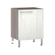 Balcão de Cozinha 1 Porta 53x82,5x60,8cm Frassino Bianco Prime Luciane