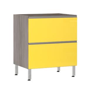 Balcão de Cozinha 2 Gavetões 53x82,5x53cm Amarelo  Prime Luciane