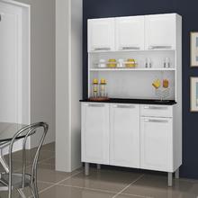 Balcão de Cozinha 86x105x45cm Aço Branco Neve Rose Itatiaia