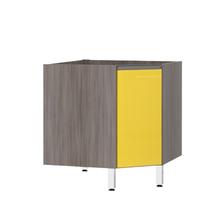Balcão de Cozinha Canto Diagonal 76x82,5x75cm Amarelo  Prime Luciane