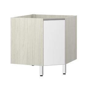 Balcão de Cozinha Canto Diagonal 76x82,5x75cm Branco Prime Luciane
