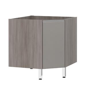 Balcão de Cozinha Canto Diagonal 76x82,5x75cm Capuccino Prime Luciane