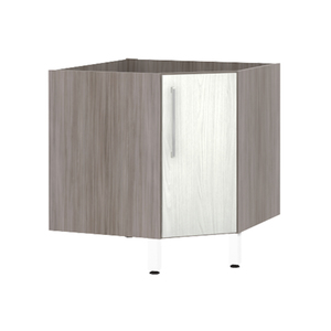 Balcão de Cozinha Canto Diagonal 76x82,5x75cm Frassino Bianco Prime Luciane