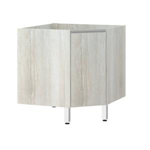 Balcão de Cozinha Canto Diagonal 76x82,5x75cm Legno Crema Prime Luciane